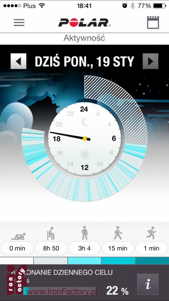 Polar flow na iOS