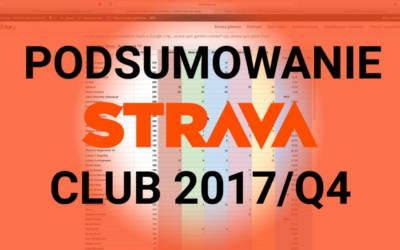 "Podsumowanie ""Ironfactory Strava Club"" Q4/2017"